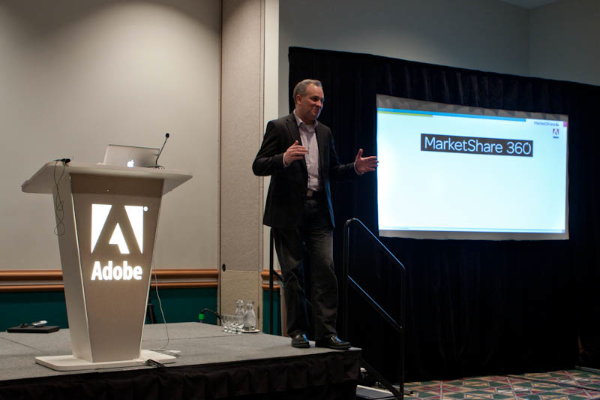MarketShare CEO Wes Nichols introducing the new cross-channel marketing attribution platform, MarketShare 360