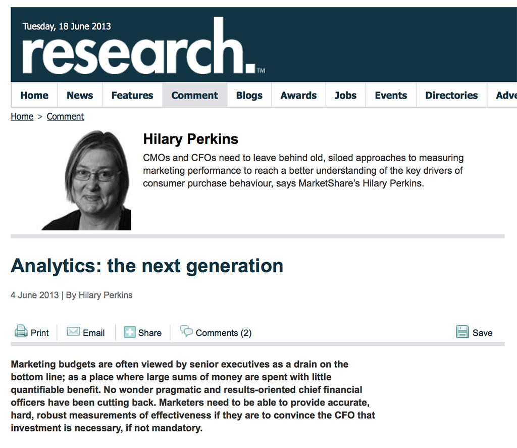 ResearchLive Hilary Perkins - Analytics: the next generation