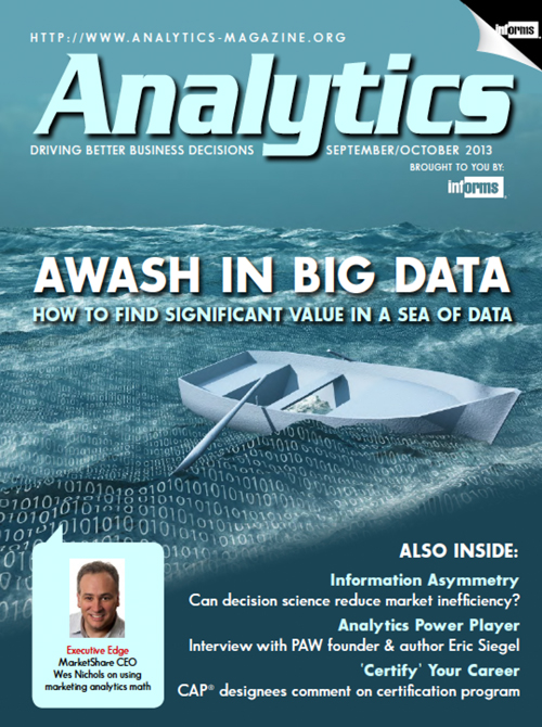 Analytics Magazine - Sept/Oct 2013